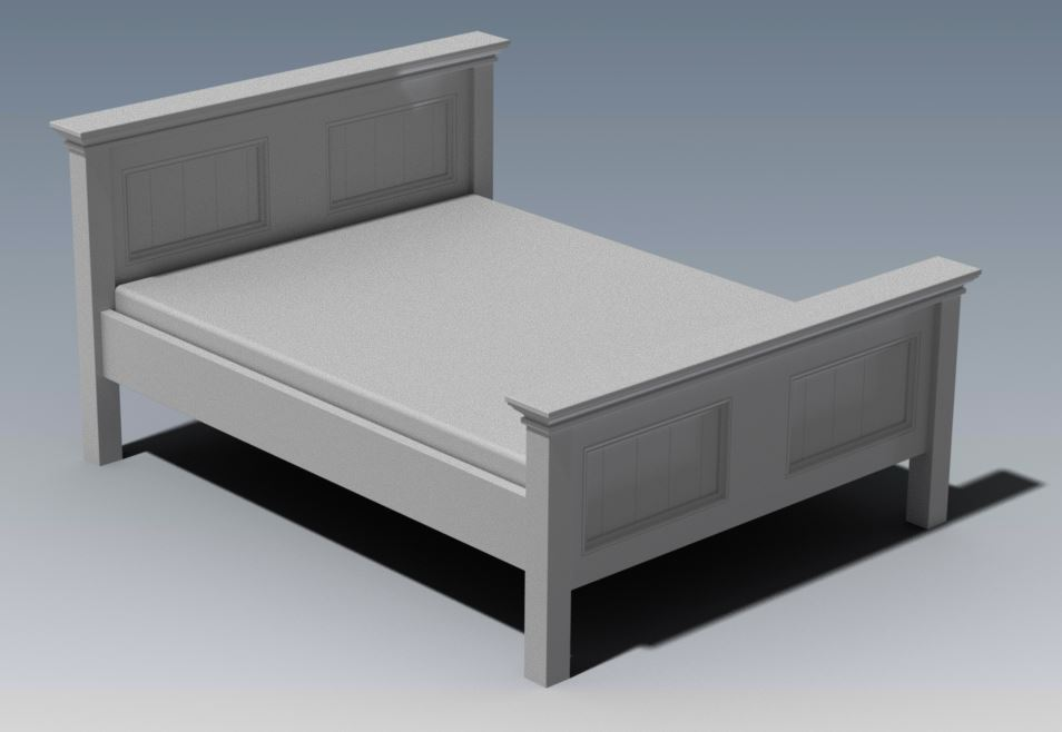 CRAFTON QUEEN BED (Building Plans ONLY)