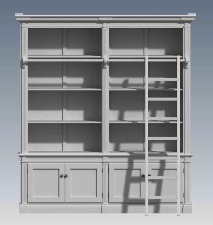 FRENCH PROVINCIAL WALL UNIT 2 MODULE (Building Plans ONLY)