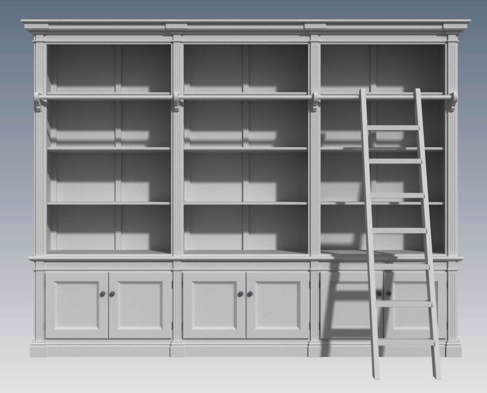 FRENCH PROVINCIAL WALL UNIT 3 MODULE (Building Plans ONLY)
