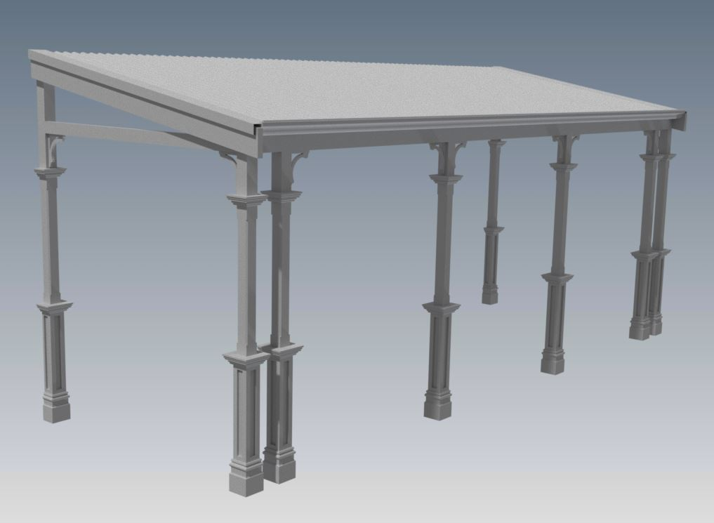 TRADITIONAL FLAT ROOF VERANDAH V02 Typical Aussie Flat Style