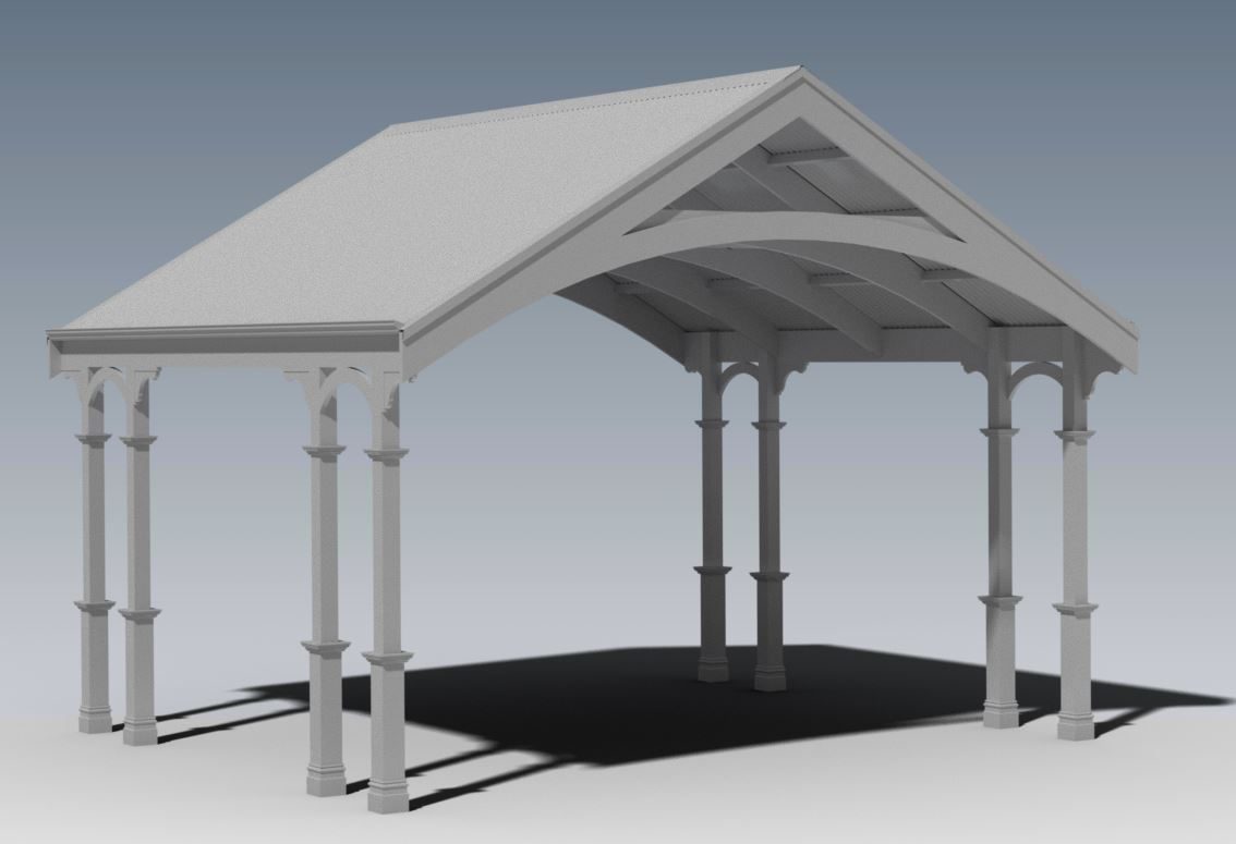 TRADITIONAL HERITAGE CARPORT/VERANDAH V04 (Building Plans ONLY)