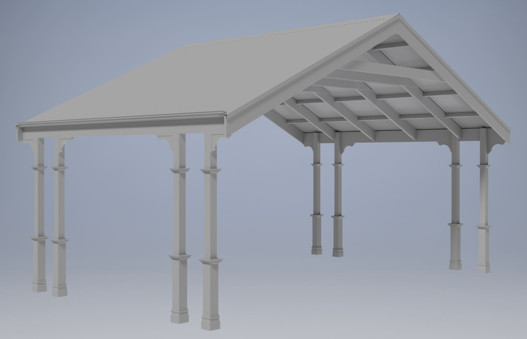 TRADITIONAL HERITAGE CARPORT/VERANDAH V08 (Building Plans ONLY)