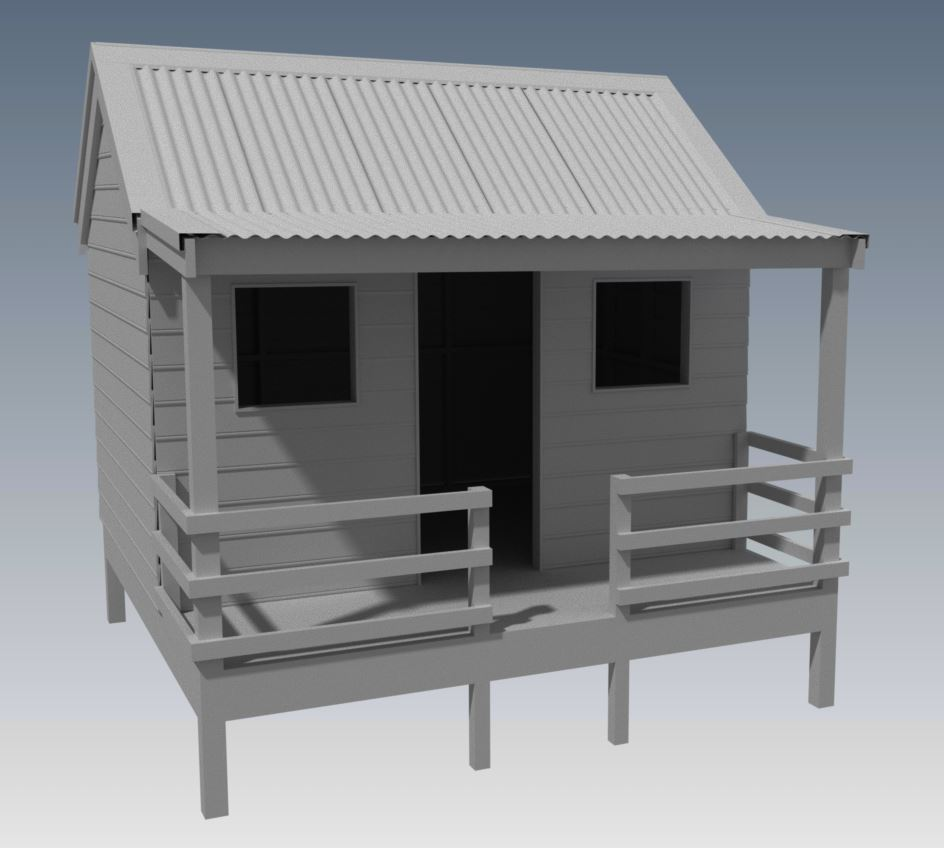 CUBBY HOUSE V04 With Great Aussie Outback Style Verandah