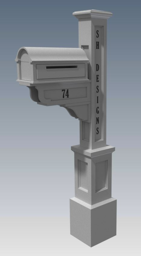 OLD STYLE MAILBOX/LETTERBOX V01