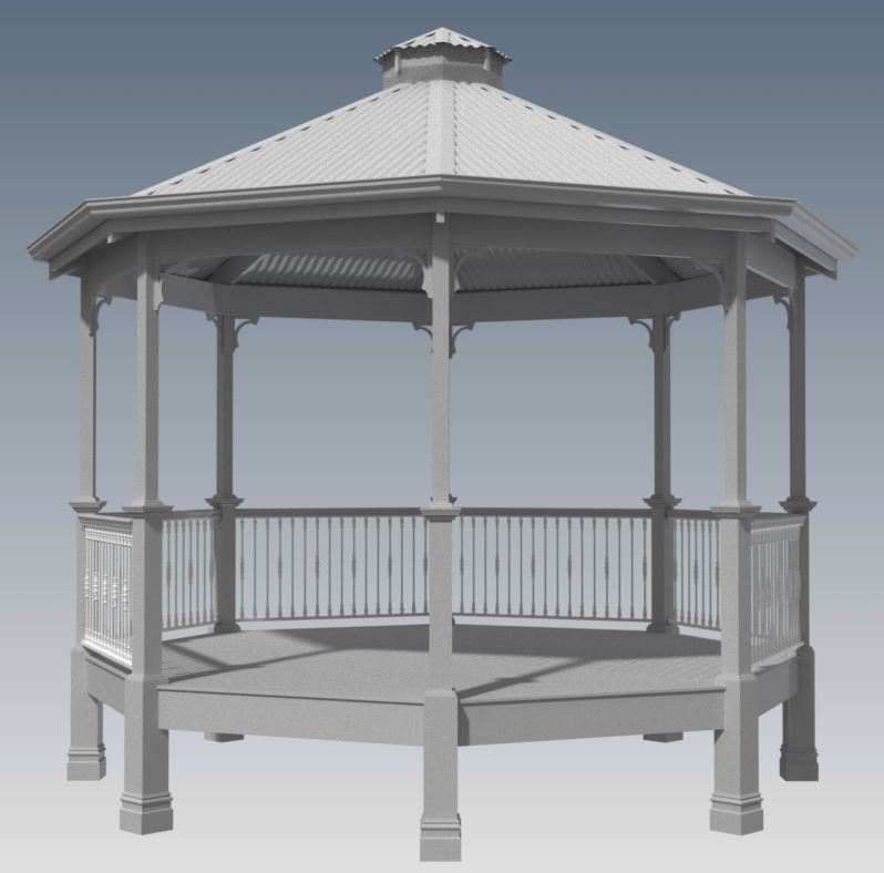 CLASSIC GAZEBO ROTUNDA V01 - Unique Design (Building Plans ONLY)