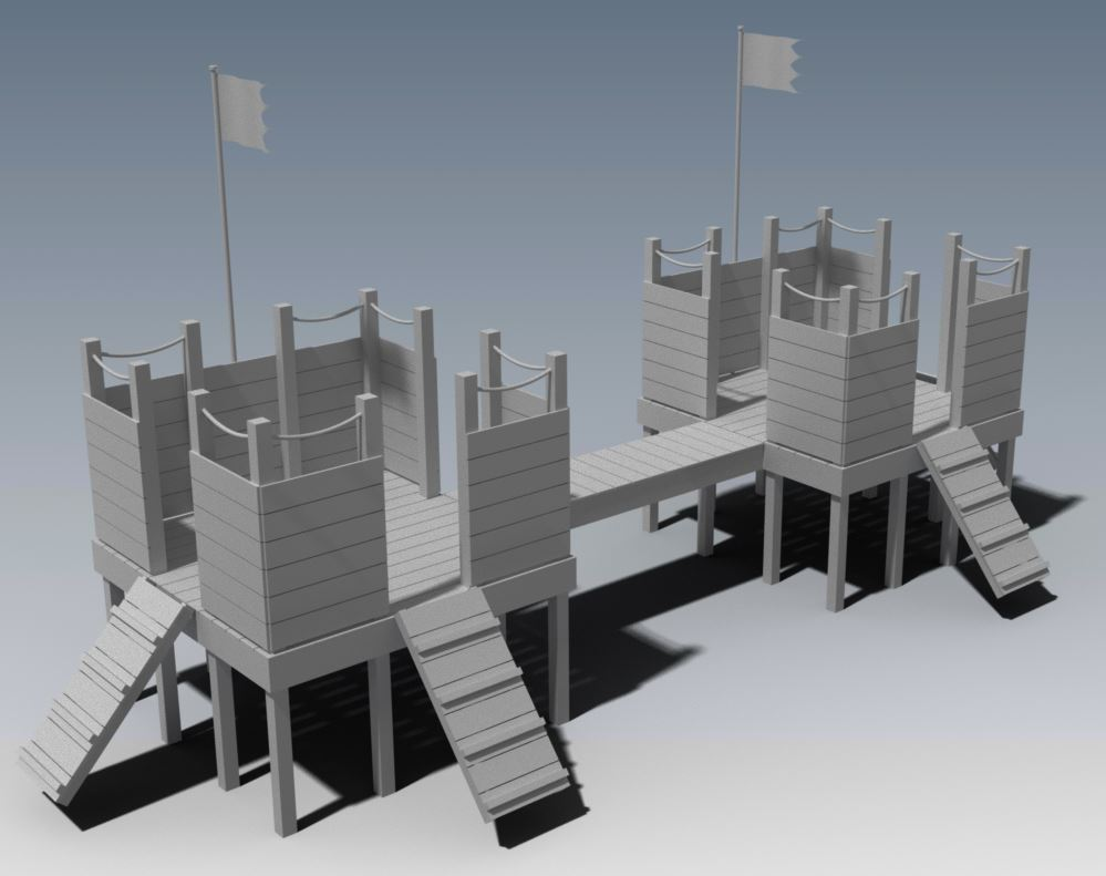 FORT KNOX CUBBY HOUSE V01 - Module Design - add to increase size of Fortress