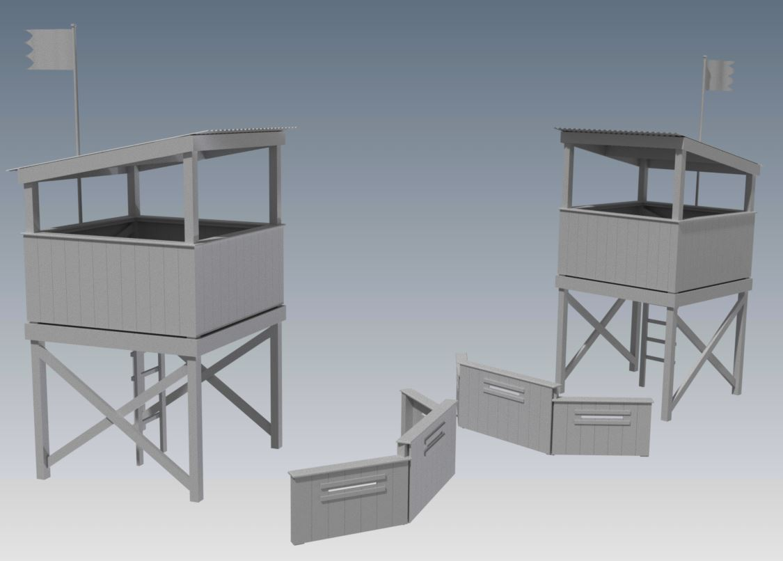 TREE HOUSE CUBBY V05 With Bunker Barricade and Trap Door Entry