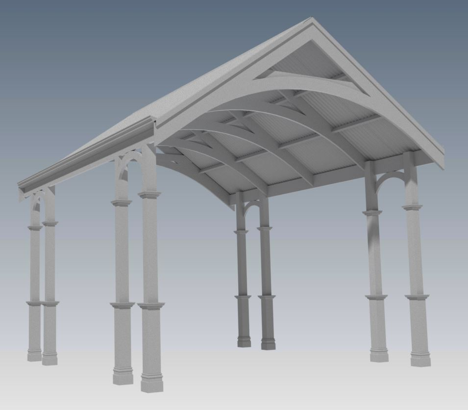 TRADITIONAL HERITAGE CARPORT/VERANDAH V03 (Building Plans ONLY)