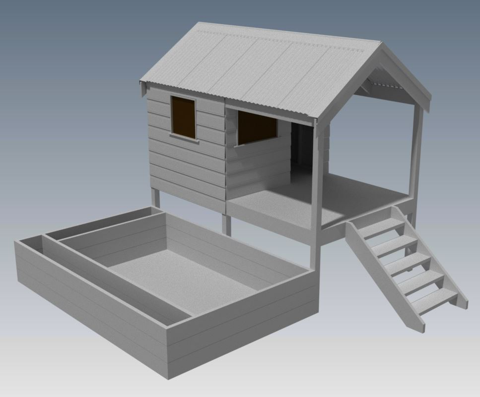 CUBBY HOUSE V03 With Sand Pit