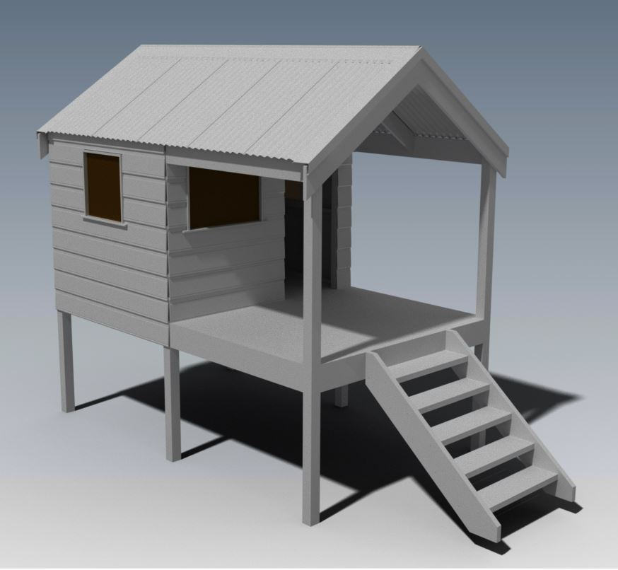 CUBBY HOUSE V03 With Front Verandah