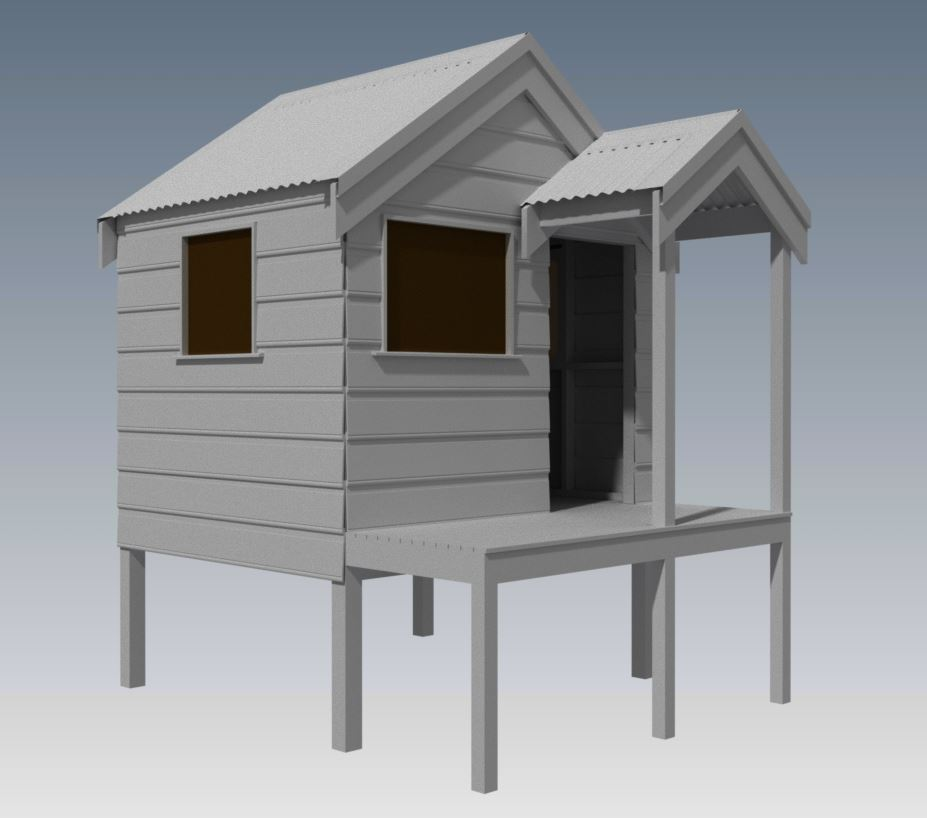 CUBBY HOUSE V02 With Small Porch