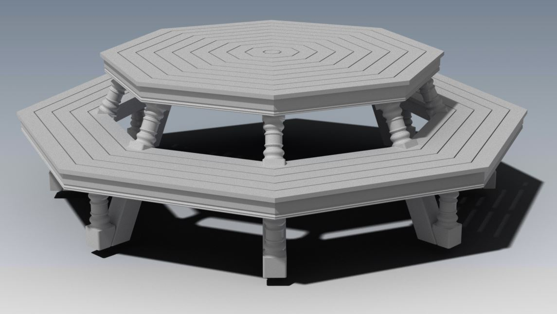 OCTAGON OUTDOOR TABLE & CHAIR - UNIQUE DESIGN V01