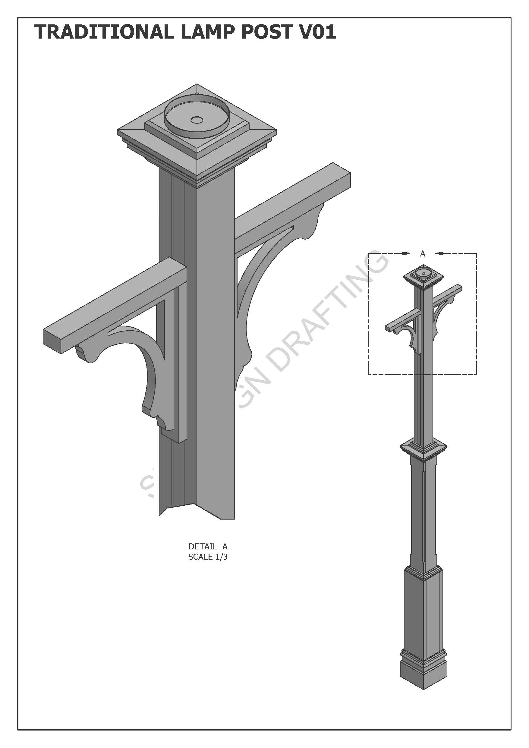 TRADITIONAL LAMP POST LIGHT V01