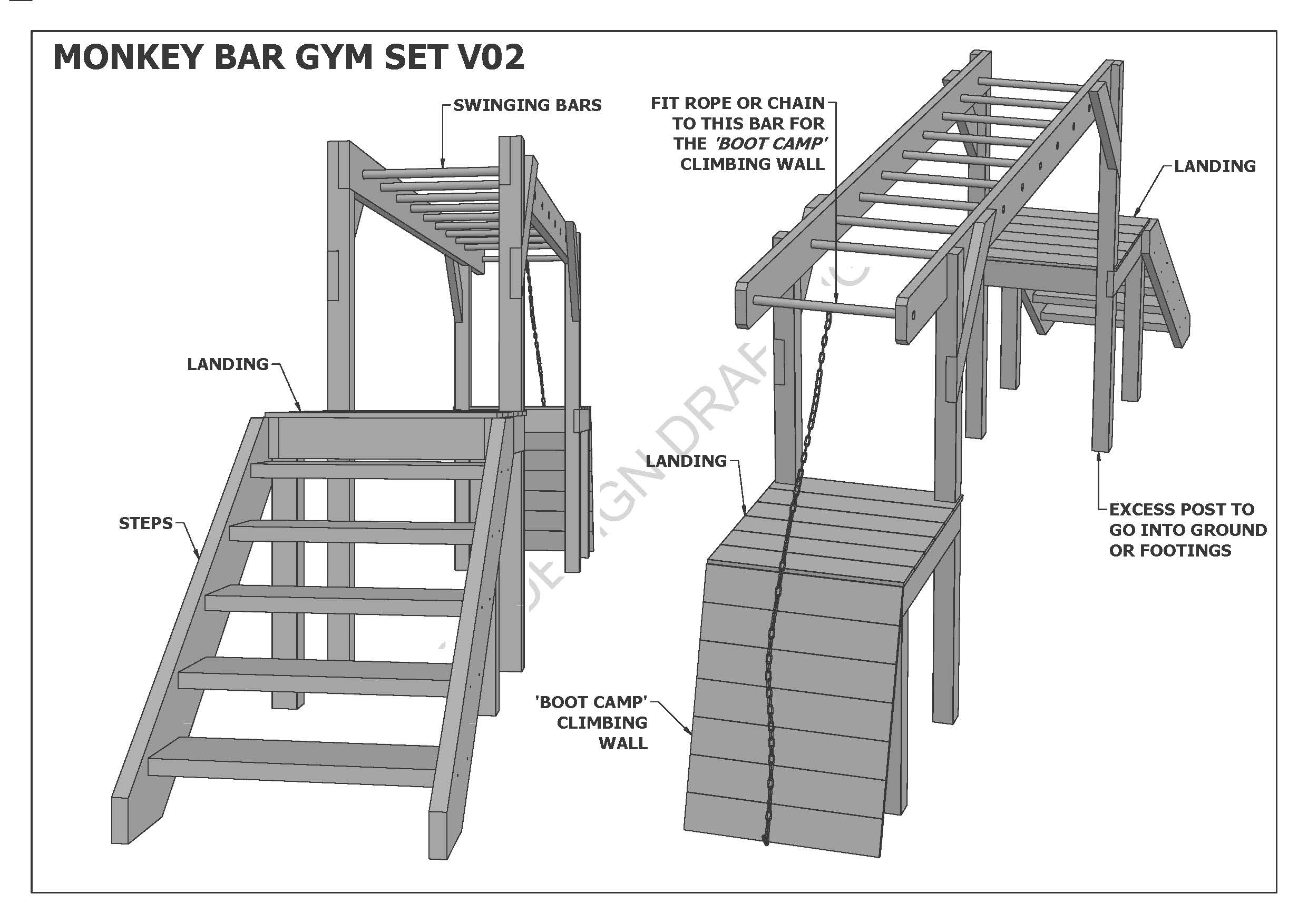MONKEY BARS / GYM SET / PLAY GYM V01